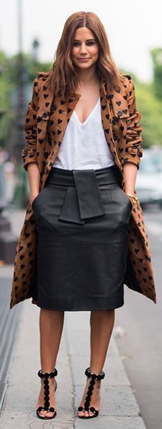 Midi skirt, casual.