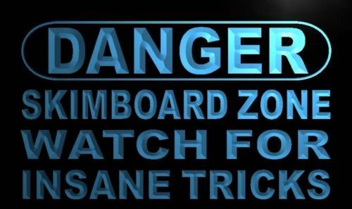 Danger Skim board Zone Neon Light Sign