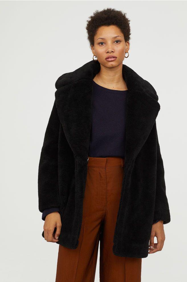 Pdp Short Faux Fur Coat Black Faux Fur Coat Fur Coat