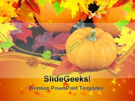 Pumpkins Daisies And Fall Nature PowerPoint Templates And - nature powerpoint template