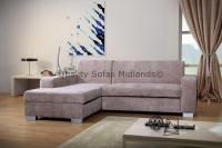 Miami Beige Corner Sofa Bed With Storage LH - Images hosted at BiggerBids.com