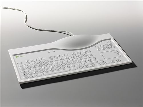 Keywi MediBoard Medical Keyboard with Touchpad | 678-021-04 | Washable Keyboard | Waterproof Touchpad Keyboard