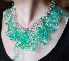 Recycled Plastic Water Container Jewelry Inspirations and Tutorials