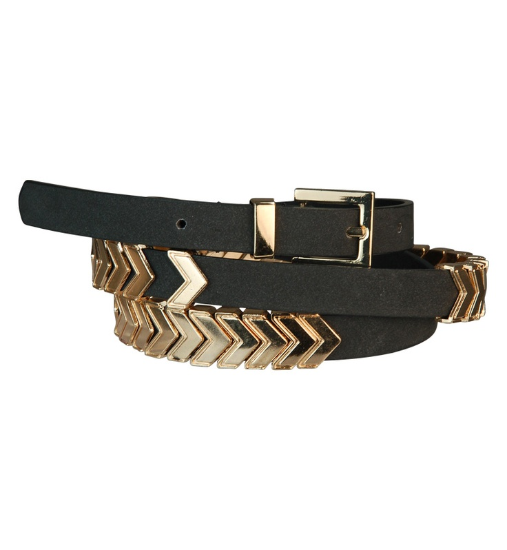 Gold Arrow Statement Belt
