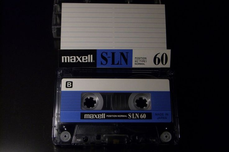 MAXELL VINTAGE AUDIO CASSETTE TAPE S-LN 60 ( USED ) ( TYPE I ) (JAPAN ) RARE ! #Maxell