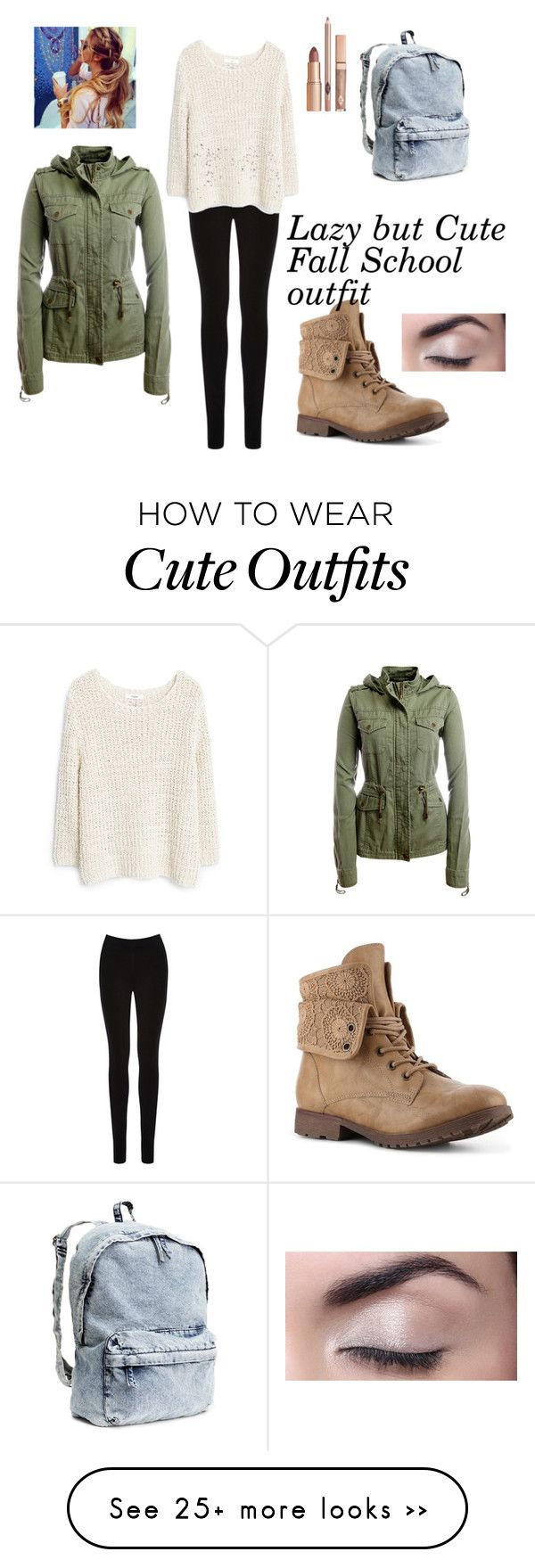 """""""Lazy but Cute Fall School Outfit :)"""" by loraastridjankovic on Polyvore featuring Oasis, MANGO, Aéropostale and H&M"""