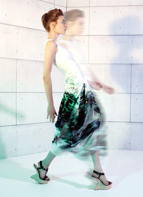 Frida Maxi Dress / Silk & Leather