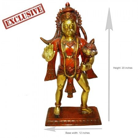 Lord Hanuman Statues in Standing Posture With Mace