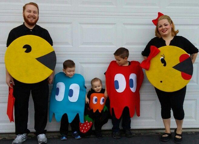 Pac Man Family costumes homemade