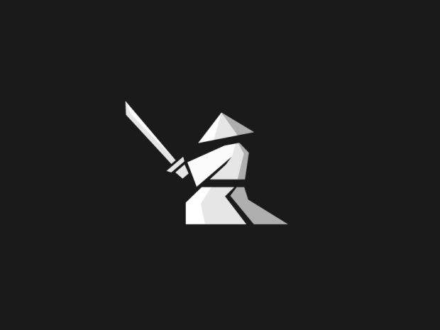 nice flat logos - 25 Warrior Logos