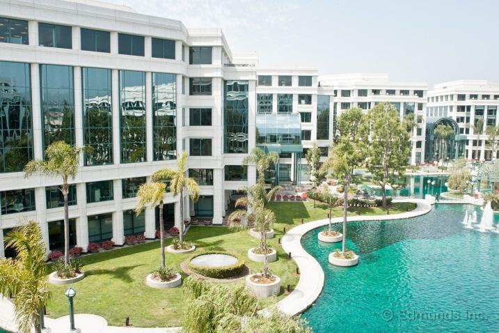 Captivating Water Garden Santa Monica California Public Government