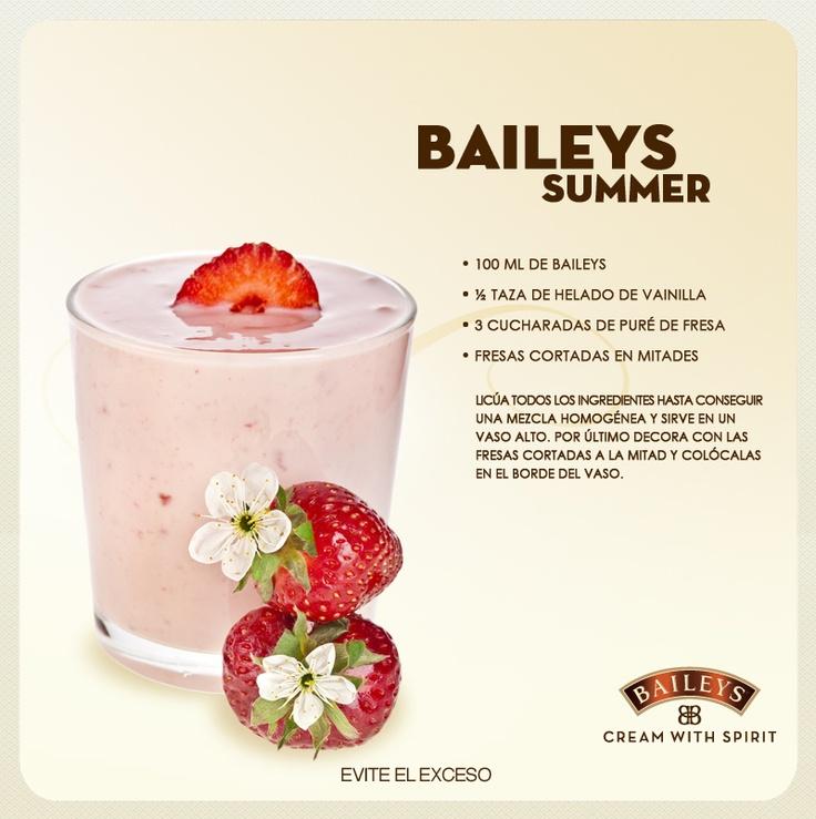 Baileys Summer #drinks #recipes #strawberry
