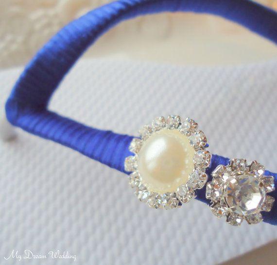 Royal+Blue+Flip+flops.+Indigo+decorated+flip+by+MyDreamWedding