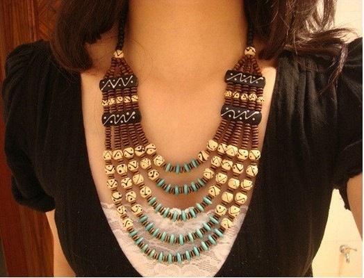 Handmade Nepalese Tibetan multi chain beaded by nepalesejewelry, $17.99