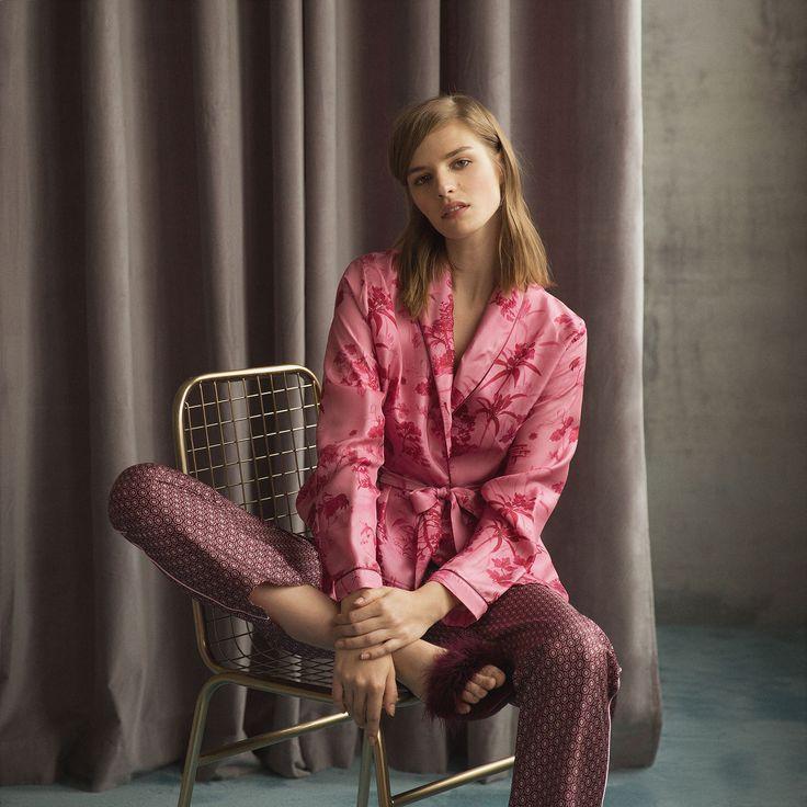 Kimono aus Seide mit Print - Nachthemden - Women's Homewear - Homewear | Zara Home Deutschland