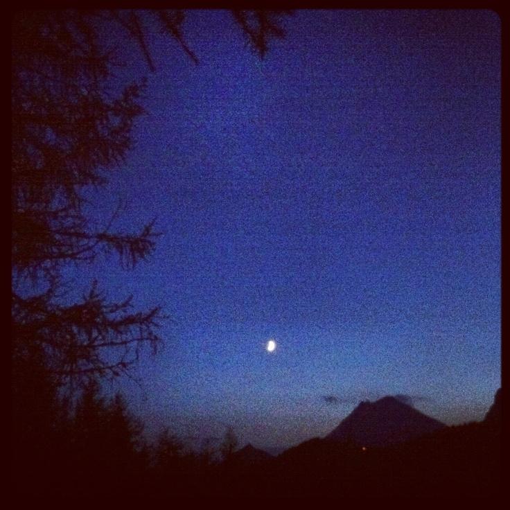 Moonlight over Rifugio Bajon & Antelao - Pian dei Buoi, #Cadore #Dolomiti - Summer 2012