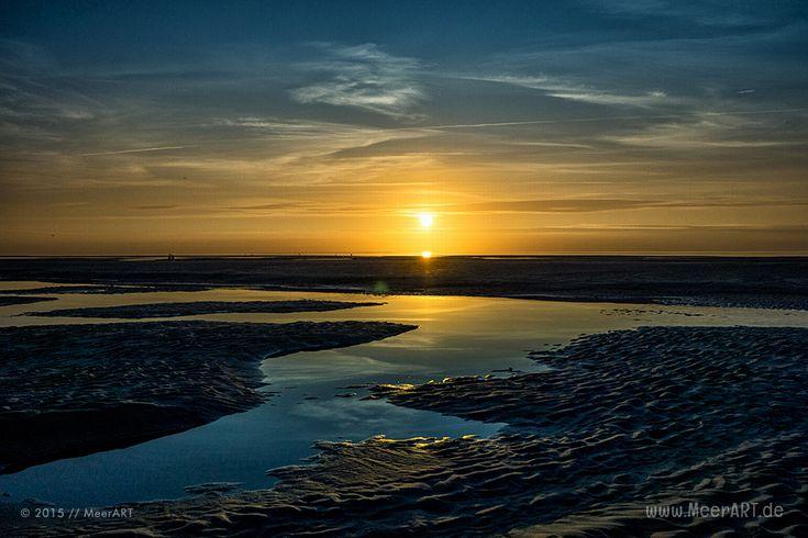Sonnenuntergang am Nordseestrand von Norddorf auf Amrum // Foto: Ralph Kerpa