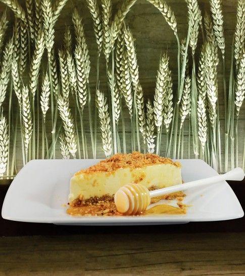Cheesecake με βάση βρώμης και ανθότυρο