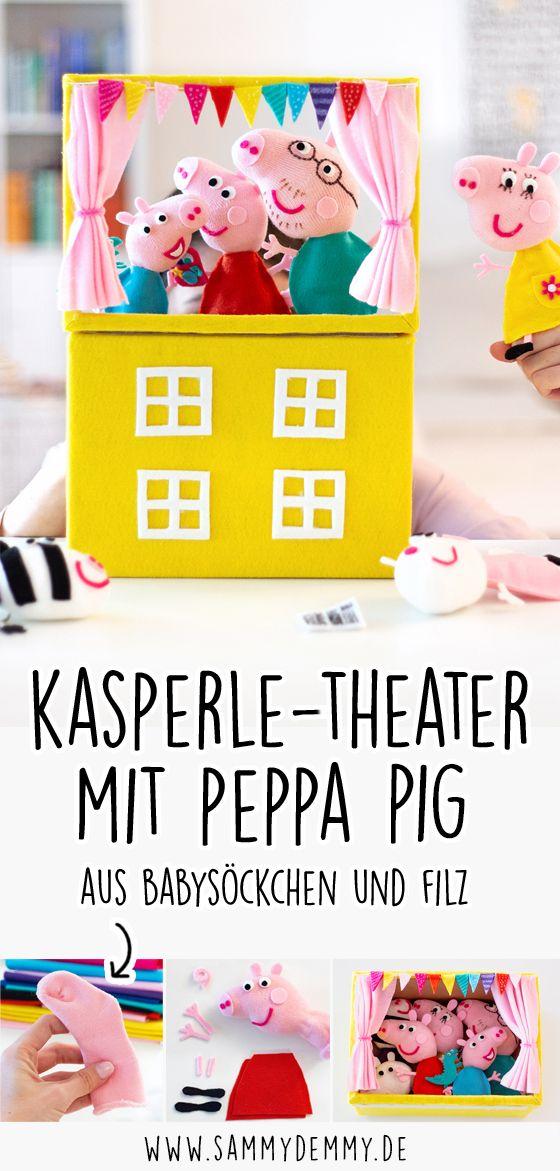 Peppa Pig: Kasperle-Theater mit Peppa Wutz Figuren selber basteln