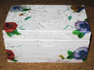recetas      plantas     y      reflexiones: caja de madera con decoupage y craquelado paso a p...