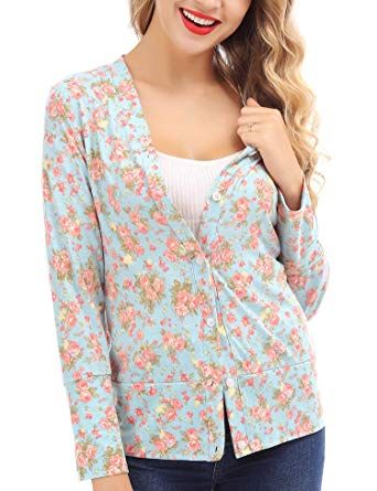 New FISOUL Kimono Cardigan Button Floral Long Sleeve Casual Cardigans for  Women online.   16.99  35 offers on top store 716eefdf7