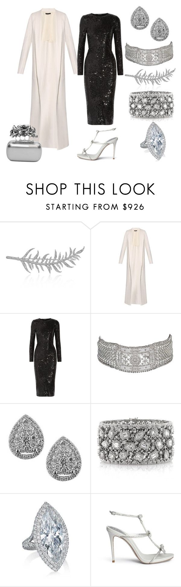 State Visit from PRC Day 2: Evening by queenalex on Polyvore featuring мода, Donna Karan, The Row, René Caovilla, Alexander McQueen, Balenciaga, Mark Broumand and EWA
