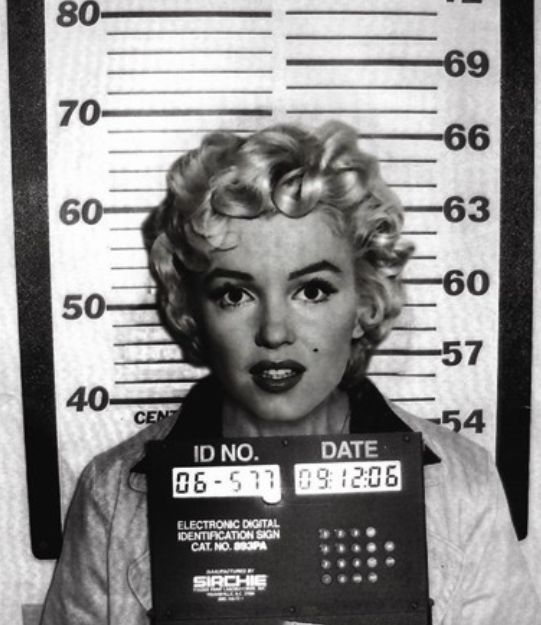 Marilyn Monroe: Arrested for driving to slowly, not having a valid drivers license and failure to appear in court.