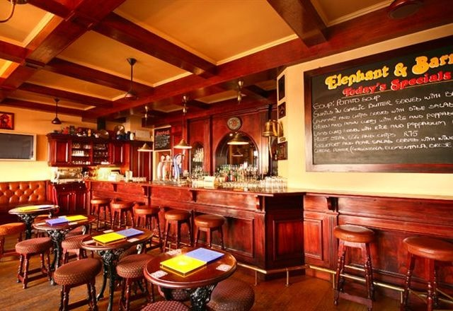 Elephant and Barrel: A local watering hole in Franschhoek, South Africa. Many nights spent in this lovely pub but I can't remember half of them. Good times. Try some South African beer like Jack Black.