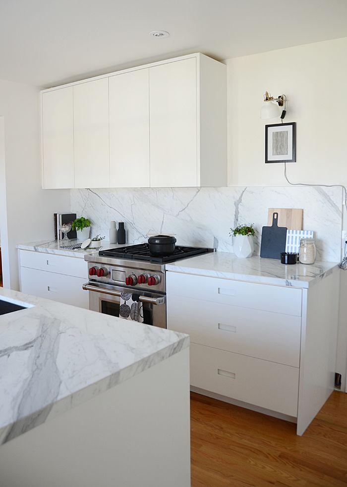 My Scandinavian Minimalist Kitchen black and white kitchen