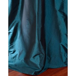 Solid Faux Silk Taffeta Mediterranean Curtain Panel | Overstock.com Shopping - Great Deals on EFF Curtains