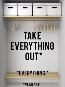 Sacar todo #declutter #orden #como ordenar nuestra ropa