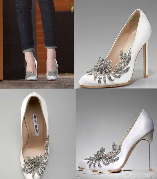 I Would Kill To Have These Manolo Blahnik White Bella Wedding Shoes For My