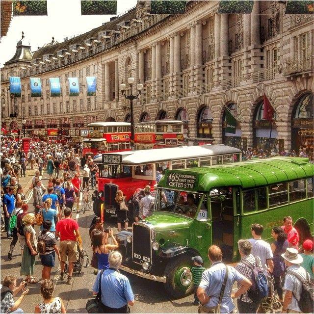 Year of the Bus Cavalcade 22.06.2014 #london #regentstreet #buscavalcade #tfl #londontransportmuseum - Korybalski