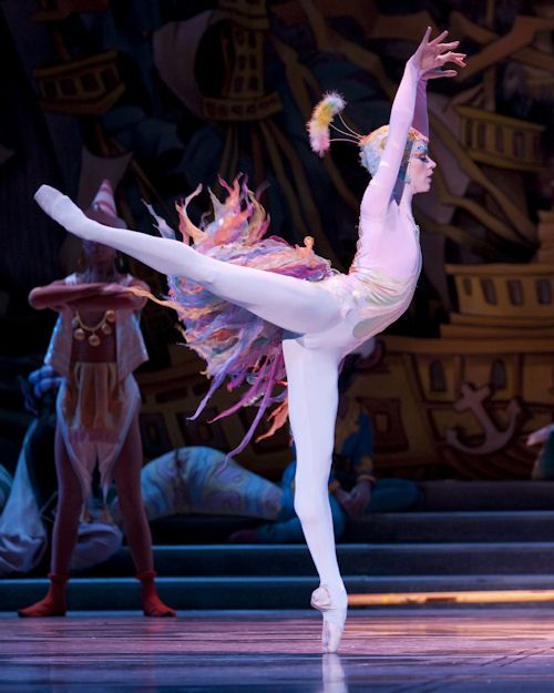 Pacific Northwest Ballet soloist Lesley Rausch as the Peacock in PNB's Stowell/Sendak Nutcracker, 2009