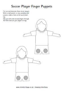 """Grundschule Englisch: Finger Puppets (soccer players), aber auch für Feelings geeignet, da das Gesicht nicht gestaltet ist. """"How are you today"""""""