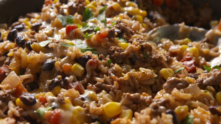 Our Cheesy Mexican Rice Is Our New Favorite Way to Eat Ground Beef  - Delish.com