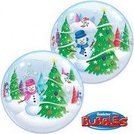 56cm Bubble Festive Trees & Snowmen $15.95 (Inflated) Q31851
