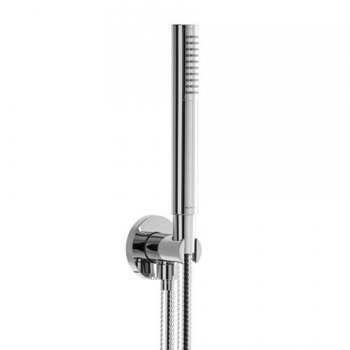 Herzbach Living Spa Wannenset  Brausehalter & -anschluss,  Länge: 1250 mm, Handbrause aus Kunststoff