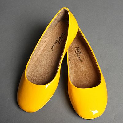I wanna wear yellow shoes..