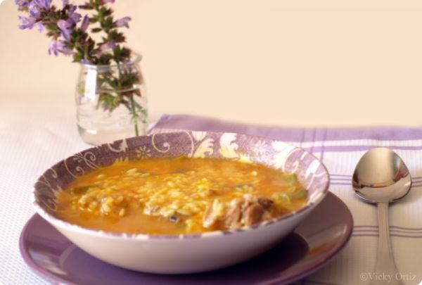 Arroz caldoso con pollo y verduras | Velocidad Cuchara
