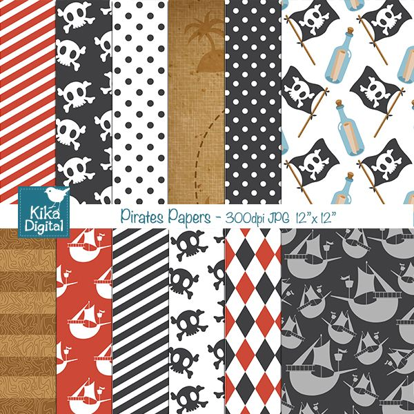 Pirate Papers - great papers for scrapbooking, invitations ...