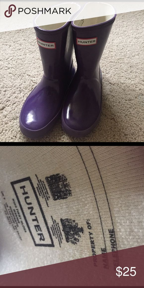 Girls Hunter boots Pair of girls Hunter boots in EUC! Hardly worn. Hunter Boots Shoes Boots