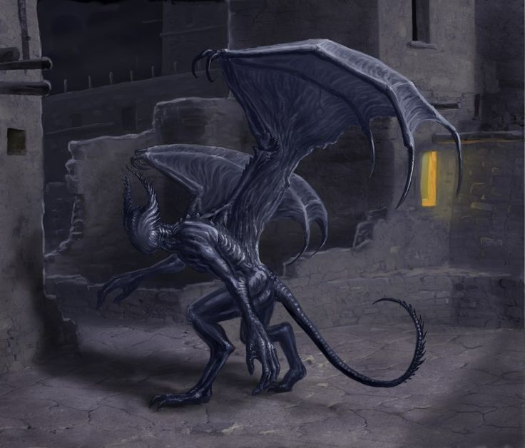 Lovecraft Bestiary Project: Night-Gaunt (http://www.conceptart.org/forums/showthread.php?t=236555)