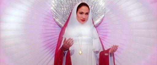Jennifer Lopez doing the Virgin Mary. | High Lonesome ... Jennifer Lopez