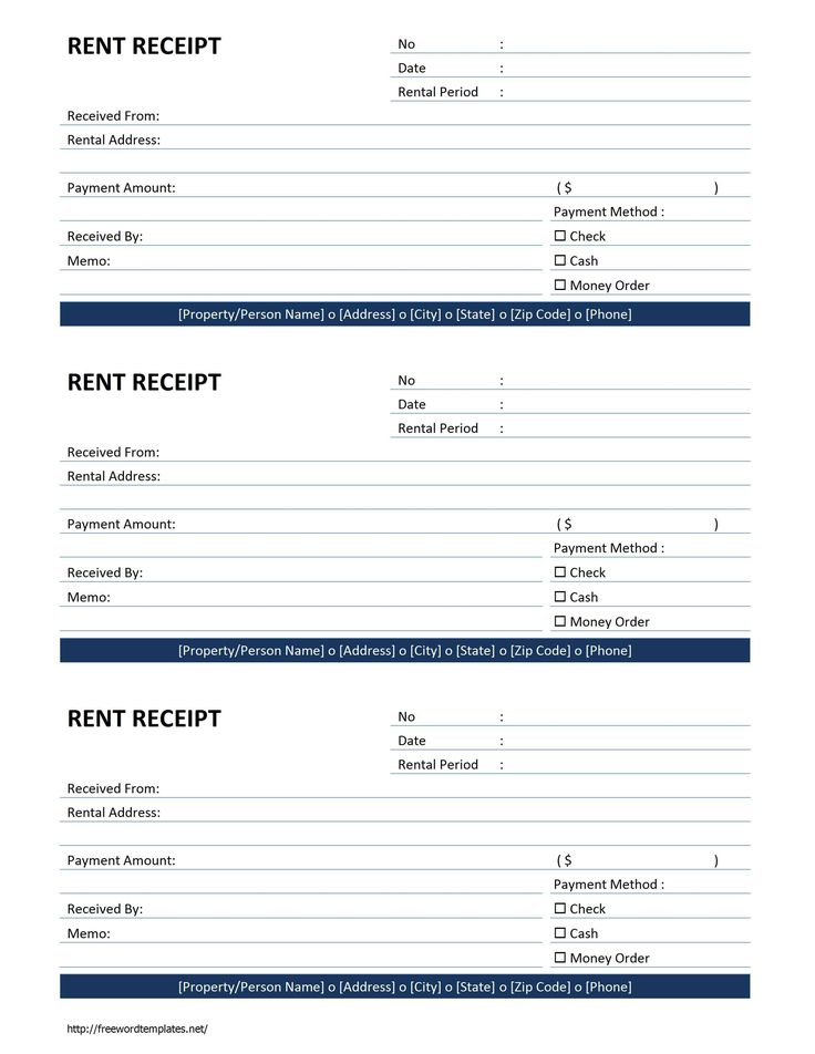 Rent Receipt Template | Free Microsoft Word Templates - free rent receipt
