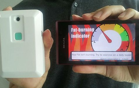 Fat Breathalyzer, a portable device that detects fat burn!