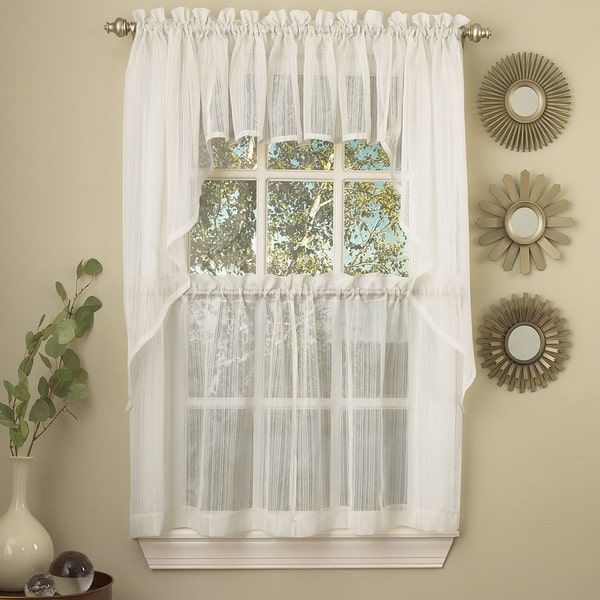 19 Best Curtains Images On Pinterest  Swag Swag Style And Window Captivating White Kitchen Curtains Decorating Inspiration