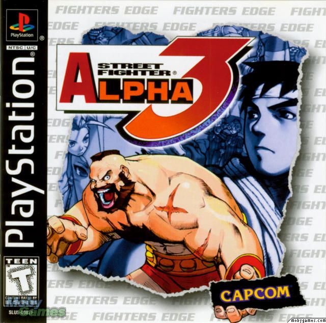 Street Fighter Alpha 3 PlayStation Front Cover