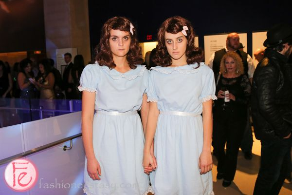 twins from The Shining: http://fashionecstasy.com/boombox-dress-up-party-kicks-off-tiffs-stanley-kubrick-exhibition/