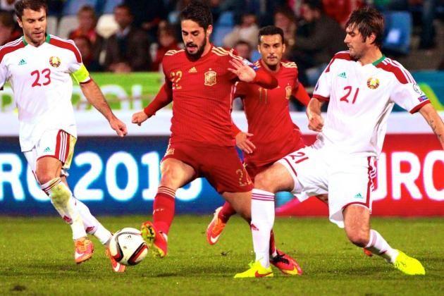 Belarus vs Spain 0-1 14/06/2015 – Highlights & Full Match   EC Qualification EURO France 2016